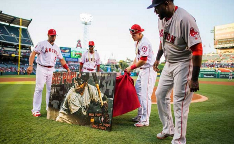 Angels Present David Ortiz With His Own Stephen Holland Painting