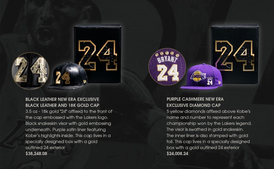 Super Rare Kobe Bryant 24 Collection Hats. Just one question….Diamonds or Gold?