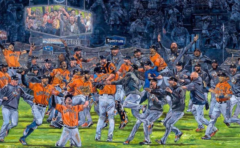 Painting captures the Astros' World Series celebration